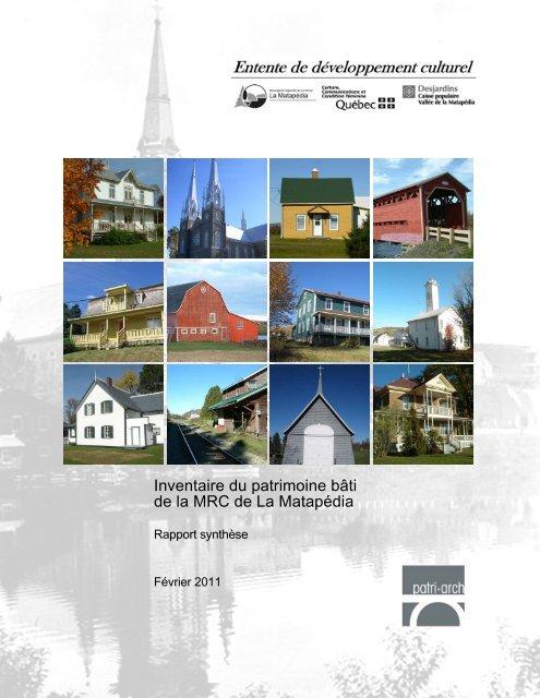 Inventaire du patrimoine bâti de la MRC de La Matapédia