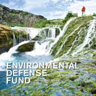 FUND 2008 ANNUAL REPORT - Environmental Defense Fund