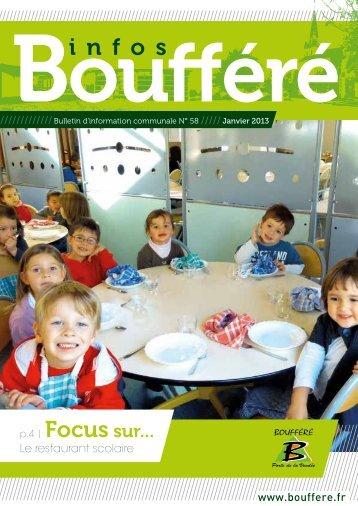 Télécharger le bulletin communal n°58 (janvier ... - Ville de Boufféré
