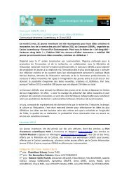 (FR) - Concours GENIAL 2012 - Luxinnovation