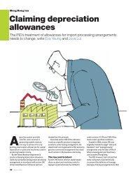 Claiming depreciation allowances