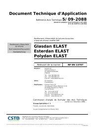 Document Technique d'Application Glasdan ELAST ... - CSTB