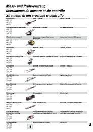 Mess- und Prüfwerkzeug Instruments de mesure ... - Debrunner Acifer