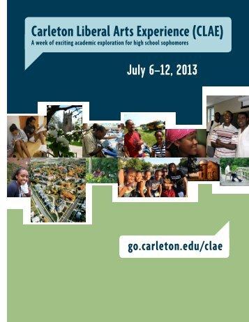 Carleton Liberal Arts Experience (CLAE) - Carleton College