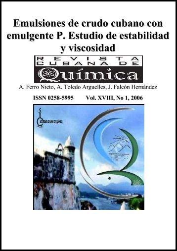 Emulsiones de crudo cubano con emulgente P. Estudio de ...
