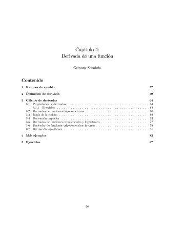 Capítulo 4: Derivada de una función - Exma.emate.ucr.ac.cr