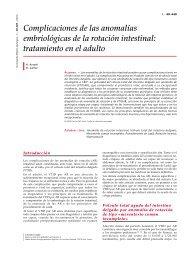 Complicaciones de las anomalías embriológicas de la ... - cinco
