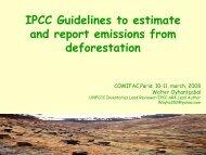 IPCC Guidelines, GPG and deforestation - PFBC