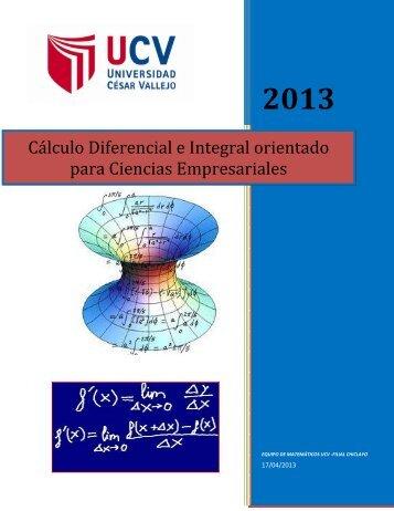Apuntes de Cálculo Diferencial