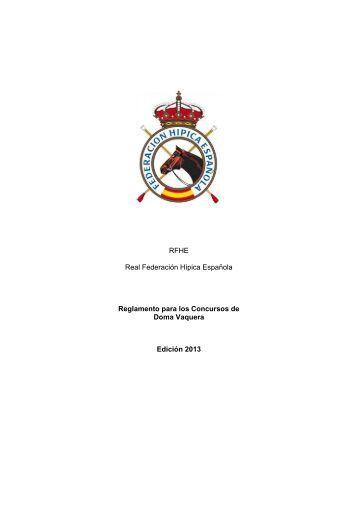 Reglamento de Doma Vaquera - Real Federación Hípica Española
