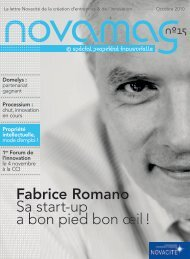 Fabrice Romano Sa start-up a bon pied bon œil ! - Novacite