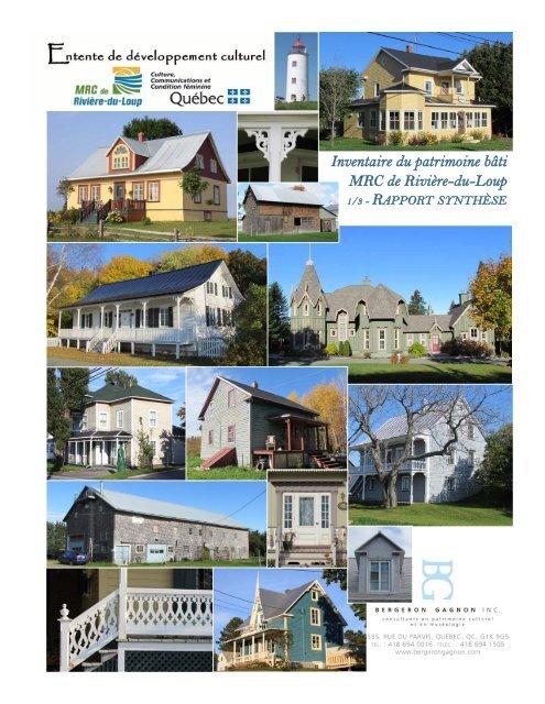Rapport synthèse MRC RDL final 20.06.12 - MRC de Rivière-du-Loup