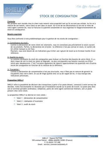 STOCK DE CONSIGNATION V1 - Shelly
