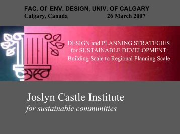 Design and Planning Strategies for Sustainable Development