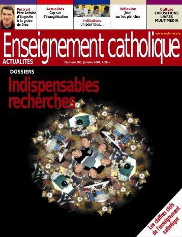 ACT UAL I T É S - Enseignement Catholique