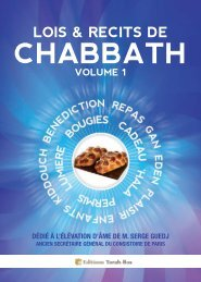 lois & recits de chabbath volume 1 - Torah-Box.com