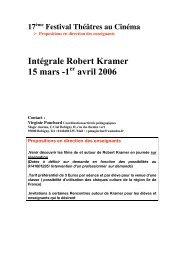 Intégrale Robert Kramer 15 mars -1 avril 2006 - ACRIF