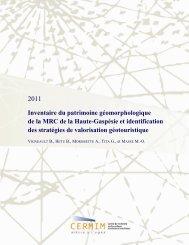 Inventaire du patrimoine géomorphologique de la MRC de la Haute ...