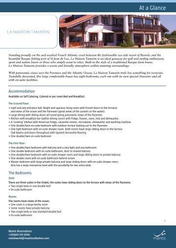 La Maison fact sheet layout 1 - Shamwari Game Reserve