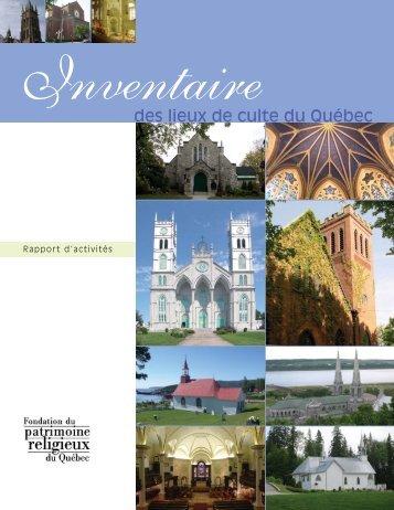 Inventaire des lieux de culte du Québec — Rapport d'activités
