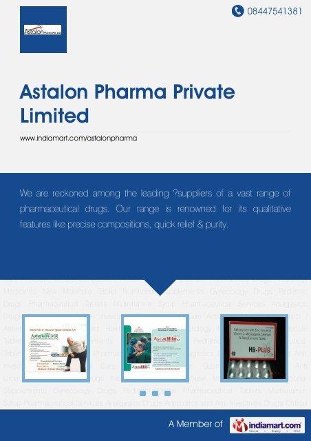 Manufacturer & Trader of Analgesics Drugs, Antibiotics ... - IndiaMART