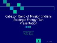 Cabazon Band of Mission Indians (Tribal Energy Plan) - EERE