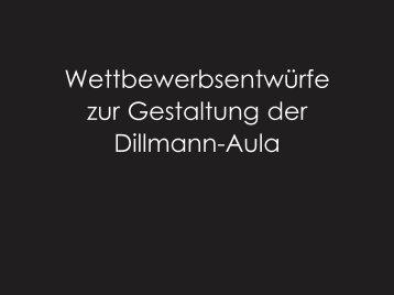 Wettbewerbsentwürfe zur Gestaltung der Dillmann-Aula