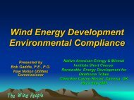 Kaw Nation - Wind Project Environmental Compliance - EERE