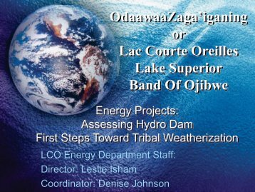 Lac Courte Oreilles Band of Lake Superior Chippewa Indians - EERE