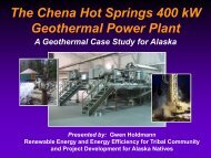 The Chena Hot Springs 400 kW Geothermal Power Plant - EERE