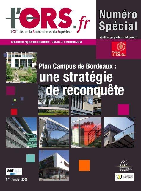 Carte Universite De Bordeaux.Une Strategie De Reconquete Universite De Bordeaux