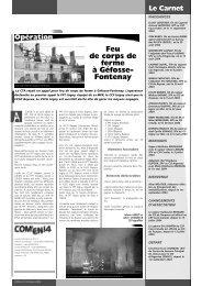 Feu de corps de ferme à Géfosse- Fontenay - SDIS14