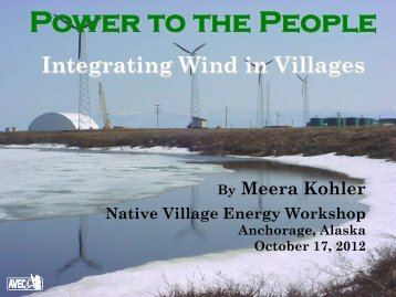Case Studies - Renewable Energy Integration: Power to the ... - EERE