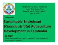 Aquaculture Development in Cambodia - AquaFish CRSP
