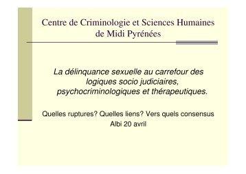 Quand la délinquance devient sexuelle - Université Rennes 2