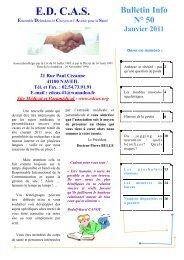 Bulletin Info N° 50 Janvier 2011 - Association EDCAS