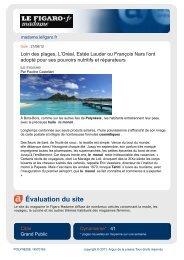 Évaluation du site - Tahiti Tourisme