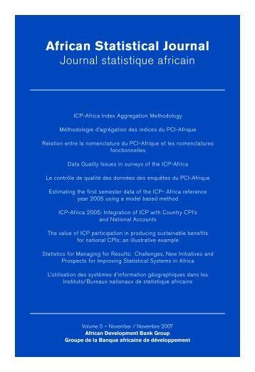 Journal statistique africain Vol. 5 - African Development Bank