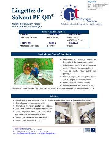 Lingettes de Solvant PF-QD