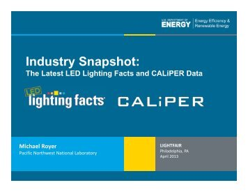 The Latest LED Lighting Facts and CALiPER Data - EERE