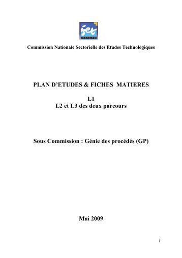 FICHE MATIERE - Ministère de l'Enseignement Supérieur et de la ...