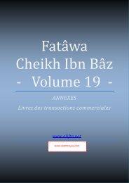 compilation des fatwas de Cheikh Ibn Baz volume 19