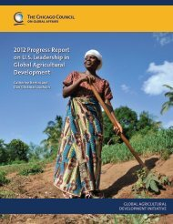 2012 Progress Report - Chicago Council on Global Affairs