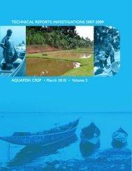 technical reports: investigations 2007-2009 - AquaFish CRSP ...