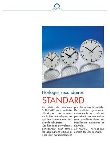 Standard - MOBATIME Swiss Time Systems