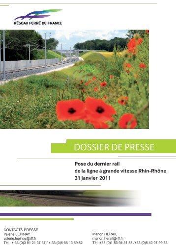 DOSSIER DE PRESSE - LGV Rhin-Rhône