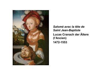 Salomé avec la tête de Saint Jean-Baptiste Lucas ... - Till R. Kuhnle