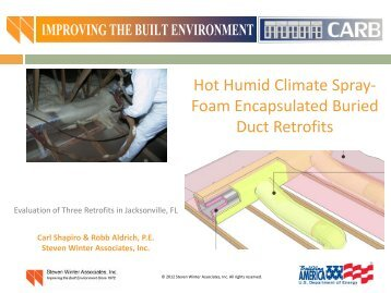 Hot-Humid Climate Spray Foam Encapsulated Buried Duct - EERE