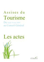 Actes des Assises du Tourisme - Conseil Général de la Corrèze