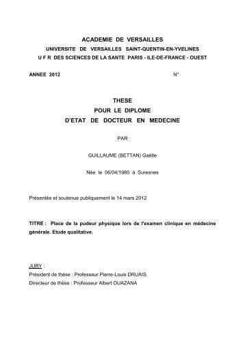 Consulter sa thèse - URPS médecins Ile-de-France